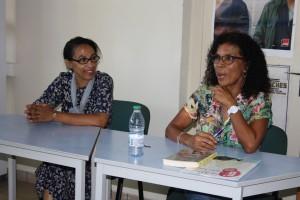 Badira Zahary, professeur documentaliste et organisatrice de la rencontre avec Bernadette Thomas